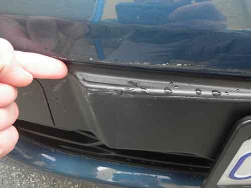Minor car damage?