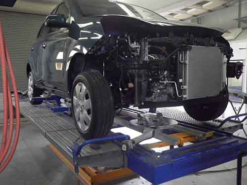 auto body opened up for repair
