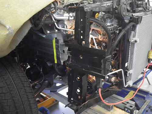 repairing damaged auto body section